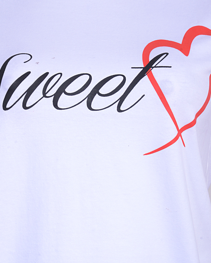 SWEET HEART I WHITE T-SHIRT
